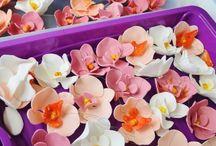 Essbare Blüten - Blütenkunst / Tipps, Tricks und Anleitungen zur Herstellung von essbaren Blüten.