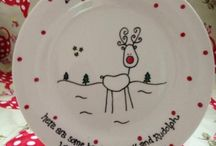 Christmas mugs and plates