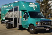 Taking it to the Streets! / Hillman's has 4 Product vans that travel the country showing customers our products.