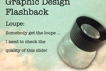 Vintage Graphic Design Flashbacks / A flashback of old fashioned vintage graphic design tools that graphic designers used (before computers)!