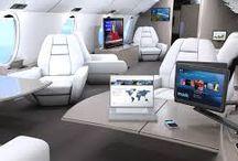 Modern Bizjet Interior / Current modern business jet interiors.