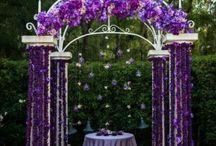 Wedding Colour - Emperor purple / As with all purples, especially with this name 'Emperor Purple' has a regal quality to it. Warmer and very rich but lighter than colours such as 'Cadbury Purple', this colour moves towards the pinker tones without losing any of its vibrancy. If gold or rose gold is an important theme running through your wedding choose 'Emperor Purple' as, hand in hand, the two colours look amazing together.
