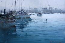 water colour- / watercolour