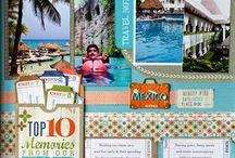 Vacation scrapbook