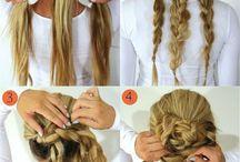 Enkle hårfrisyrer