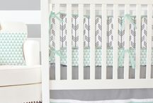 Mint & Gray Nursery Inspiration / Mint and Gray are the perfect colors for any modern or gender neutral nursery design. Caden Lane has just the right amount of baby bedding to appeal to all lovers of mint and gray and get your ideas flowing to create the perfect nursery for you!
