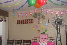 Birthday party decorating