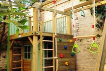 Outdoor kids playhouse ideas.