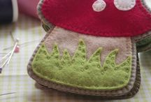 toadstool needle book