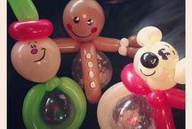 Christmas balloon figures