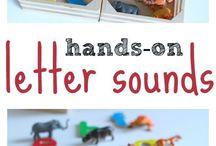 Zaydens early literacy. center idea. letter learning