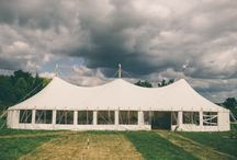 Ruth & Matt, Gringley on the Hill, July 2015 / Outdoor wedding reception with games, balloons and lots of fun!