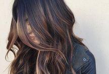 sunkissed highlights dark hair