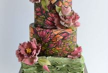 Must See Modern Wedding cakes! / I  am a modern girl in a modern world and I love me an over the top modern wedding cake. This is a collection of my favorite modern cakes along with all sorts of items you might find at wonderfully modern affair.