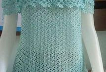 Crocheted tops