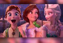 Anna,Rapunzel and Elsa