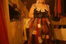 Homemade Tim Burton's Red queen halloween costume