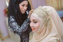 jilbab penganten