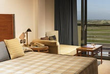 Rooms and Suites / Guestrooms at The Atlantic Hotel are decorated in elegant understated colours, with opulent marble bathrooms. Light oak and satin-polished chrome add stylish touches, while full height windows and balconies offer great views of the Atlantic Ocean and La Moye Golf Course.