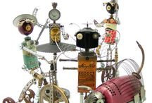 Metal Art, Altered, Assemblage, Sculpture / by Sherry Schmidt