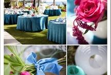 Teal and fuchsia wedding
