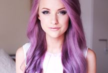 Purple Hair...Lavender and just bright....