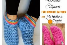 Crochet ~ Boot Cuffs, Slippers, Boots / crochet patterns