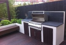 In-built Barbecue