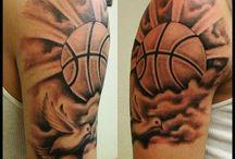 Bola basquete ombro