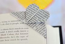 Origami / Origami heart book mark