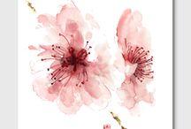 Cherry blossom kitchen