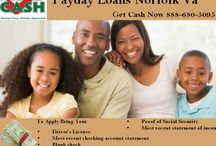 payday loans / We make loans to customers just like you every day so to get started simply apply online, apply at one of our convenient locations or call 877-976-9868 to get pre-qualified. For a payday loan, all you need to bring is: driver's license, checking account statement, most recent paycheck stub and your personal check. For a title loan, just bring: driver's license, clean & clear car title and your vehicle.More information Visit http://www.approvedcashadvance.com/locations/norfolk/