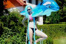 Pool Party Jinx cosplay