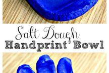 salt down handprints