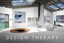 DESIGN THERAPY / Design d'aménagement intérieur pour une maison de plein pied. Création, 3D et traitement image : Frédéric Resseguier Visitez mon site : fredox.com