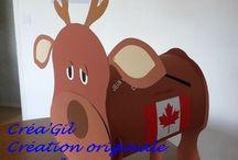 """Urne mariage """"animal"""" / Urne de mariage thèmes : voyage au Canada Mon chien"""
