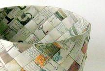 papírové pleteni a tkani