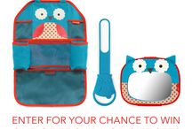 Travel & Car Accessories Giveaway / Share the fun and challenges of your road travel for a chance to win a suite of our brand new Skip Hop car and travel accessories, valued at $50! 75 winners!  / by Skip Hop