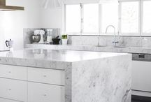 Marble kitchen – little bit of luxury for everyone / Luxurious and timeless chic in every corner of your home. Technistone Noble Collection gives rise to a new generation of marbled patterns with the special characteristics of engineered stone.