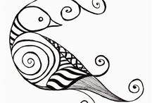 zen tangle bird