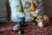 Needle Felting / Needle felted objects:gnomes,animals, pincushions