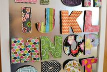 "Felted Alphabet / These lovely letters make the perfect gifts, or you can make these ""easy to create"" projects with your children or grand children.  / by Husqvarna Viking® Sewing and Embroidery Machine"