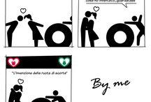 Le vignette di lovebyme / storie divertenti sull'amore a forma di vignetta.
