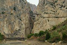 El Caminito del Rey, El Chorro, Andalusië, Spanje / http://www.caminitodelrey.info -  https://nl.wikipedia.org/wiki/Caminito_del_Rey