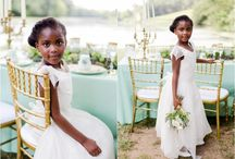 Little People at Weddings / I love seeing children dressed up as ringbearers, pageboys and flowergirls - so sweet in their cute dresses and smart suits. Nubride.com