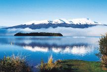 Taupo, New Zealand / Taupo is a favourite holiday destination with plenty of fantastic sports activities and a plethora of events.  Lake Taupo, the biggest lake in Australasia and roughly the size of Singapore, is known for its fantastic trout fishing. 