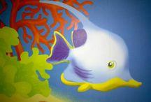 væg - maleri