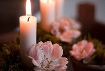 Candels and flower
