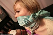 Women gagged. / Women with plugged, or tied mouth.