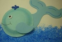 Paper plate sea animal crafts / This page has a lot of free Paper plate sea animal crafts for kids,parents and preschool teachers.